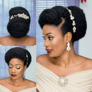 Wedding updos for natural black hair