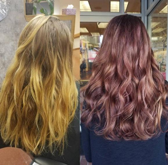 Cute Chocolate Mauve Hair Color
